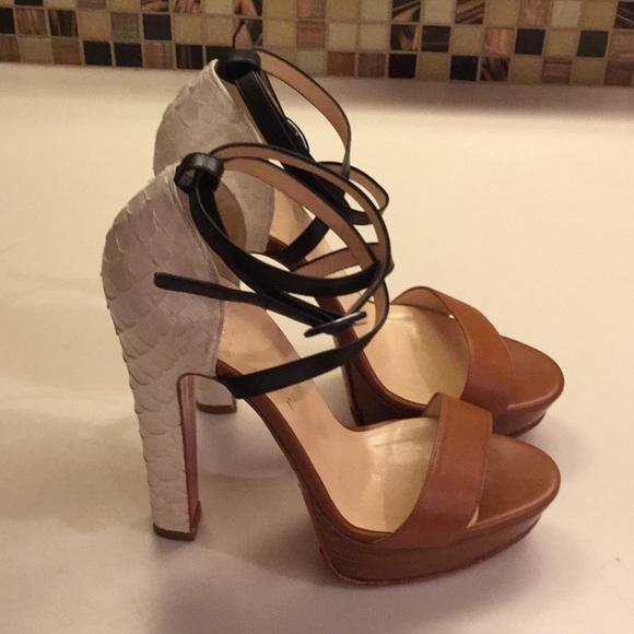 dc6f377b2b3c Christian Louboutin Shoes - Christian Louboutin Summerissima watersnake  heels